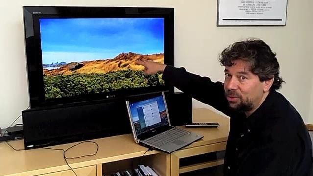 wie man ein notebook mit einem hdmi kabel an ein tv ger t anschlie t. Black Bedroom Furniture Sets. Home Design Ideas