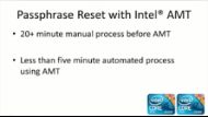 Reset Passwords on Encrypted Hard Drives with Intel ® AMT