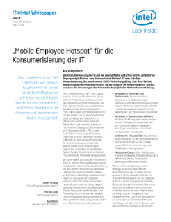 IT@Intel-Whitepaper Intel IT  Employee Hotspot  März 2014