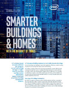 Demo Brief: IoT Solutions for Smart Buildings and Homes