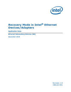 Recovery Mode in Intel® Ethernet Devices/Adapters Application Note