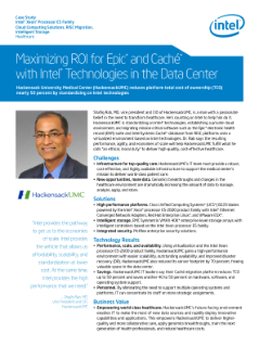 HackensackUMC Accelerates ROI for Epic and Caché* Databases