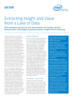Data Lake Analytics EMC Case Study