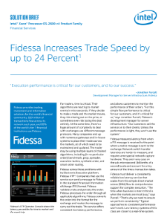 Fidessa Increases Trade Speed with Intel