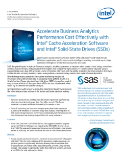 Intel® Cache Acceleration Software for Business Analytics