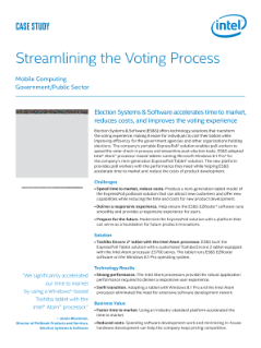 Streamlining Voting with Tablets Based on Intel® Atom™ Processors