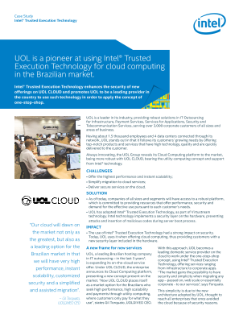 UOL implementiert Intel® Trusted-Execution-Technik für Cloud-Computing