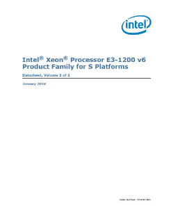 Intel® Xeon® Processor E3-1200 v6 Product Family Datasheet, Vol. 2