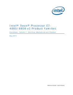 Intel® Xeon® Processor E7-8800 Datasheet 1