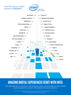 DSE 2017 Partner Map - Amazing Digital Experiences Start with Intel