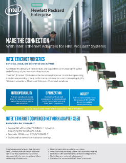 Intel® Ethernet Adapters for HPE ProLiant* Systems