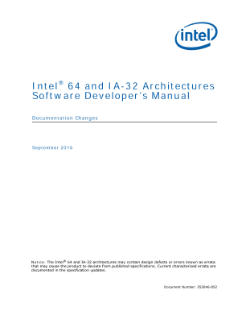 Intel® 64 and IA-32 Software Developer's Manual: Document Changes