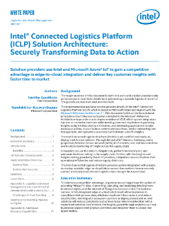 Transform Data to Action with Intel® Connected Logistics Platform (Intel® CLP)