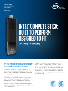 Transform Any HDMI* Display to a PC with the Intel® Compute Stick