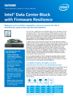 Intel® Data Center Blocks (Intel® DCB) with Firmware Resilience Solution Brief