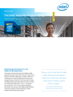 Intel® Xeon Phi™ Product Family: Product Brief