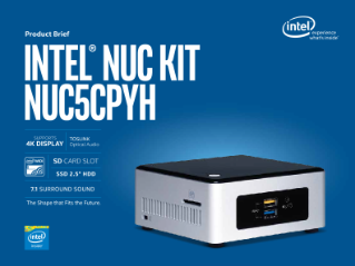 Intel® NUC Kit NUC5CPYH: Intel® Celeron® Processor Performance