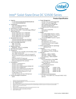 Intel® Solid-State Drive DC S3500 Series: Specification