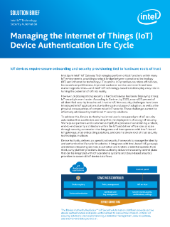 Intel & Device Authority Device Onboarding Joint Solution Brief