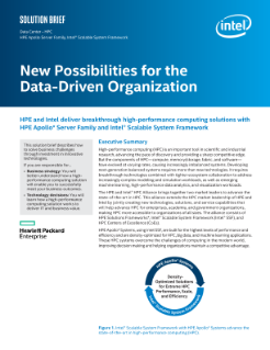 Solution Brief: New Possibilities for the Data-Driven HPC Organization