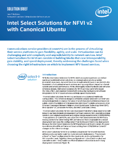 Intel Select Solutions for NFVI v2 with Canonical Ubuntu