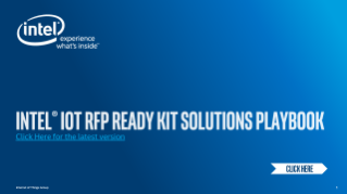 Intel® IoT RFP Ready Kit Solutions Playbook