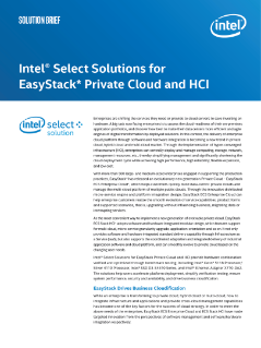 Intel Select Solutions for EasyStack Private Cloud and HCI