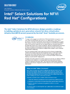 Intel Select Solution for NFVI Red Hat Configurations