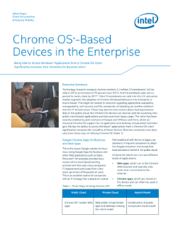 Chrome OS-Based Devices in the Enterprise