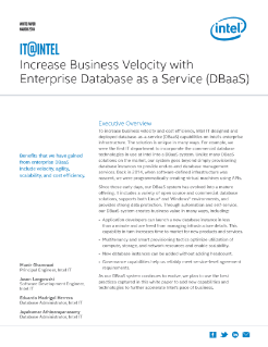 Increase Business Velocity with DBaaS