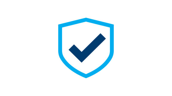 Symbol blauer Schild