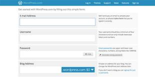 Wordpress-Anmeldeformular