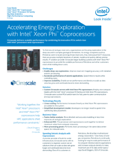 Accelerating Energy Exploration with Intel® Xeon Phi™ Coprocessors
